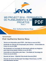 Aula 3 Microsoft Project 2016