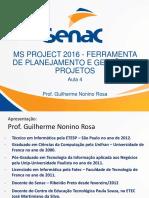 Aula 5 Microsoft Project 2016