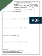 AVALIAÇÃO DE MATEMÁTICA – 4º Bimestre  - M1TR03 - Tarde.docx