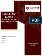 Factor Humano de La Organización Guia 2