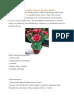 Cara Membuat Bunga Dari Sabun Mandi