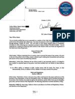 Letter of suspension  for LRPD officer Charles Starks