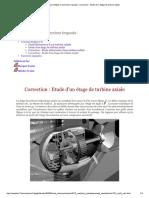 Travaux Dirigés Et Exercices Imposés - ...n_ Etude d'Un Étage de Turbine Axiale