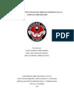 Garantias Contitucionales Del Derecho a La Defensa en Las Audiencias Preliminares