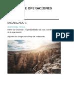 Manual Formato de Operaciones. Formato (1)