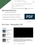 Pio La Torre - Tribuna Politica, 1967 -Rai Teche