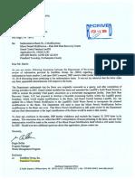 DEP R. Bellas Withdrawal of opinion regarding Synagro Sedimentation Basin #2 Plainfield Township