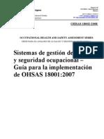 OHSAS 18002-2008 Español