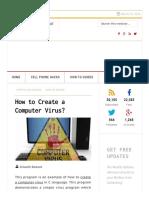 How to Create a Computer Virus GoHacking