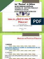 03. Que Son Las Politicas Publicas