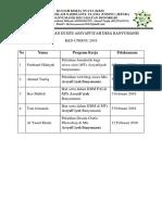Konsep Jadwal Mts (Program KKN)