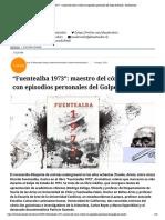 """""""Fuentealba 1973""""_ maestro del cómic vuelve con episodios personales del Golpe de Estado - El Mostrador"""