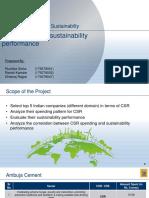 CSR and sustainability analysis