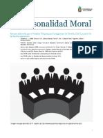 La Personalidad Moral