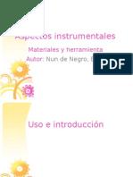 exposicion. aspectos instrumentales