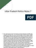 Uttar Pradesh Politics Notes 7