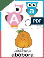 alfabeto corujinha