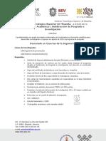 Convocatoria Ingreso DOCTORADO 2019