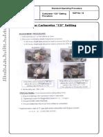 14 CO Setting Procedure for Carburetor