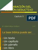 ELABORACION DEL SERMON DEDUCTIVO