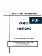 Canned Mushroom Inspection Instructions