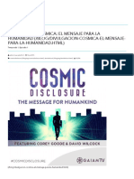 Divulgación Cósmica_ El Mensaje Para La Humanidad - Sphere-Being Alliance