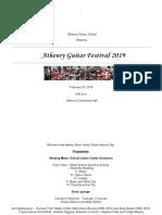 Athenry Guitar Festival 2019 Concert Programme