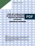 Plan de Trabajo Para El Proceso de Exhibición de Nuestro Portafolio de Servicios