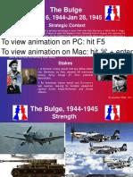 Battle of the Bulge 1944 1945 Animation