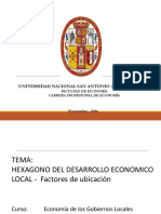 Economía de Los Gobiernos Locales Factores de Localizacion