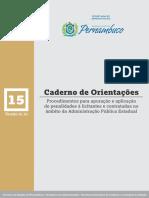 Caderno de Orientações - Proced Apura Aplica Penas Licita e Contratadas