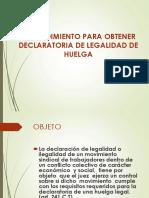 Declaratoria de Legalidad de Huelga