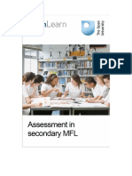 Assessment in Secondary Modern Foreign Languages
