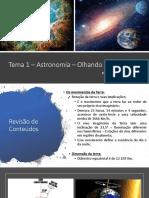 Tema 1 – Astronomia – Olhando Para o
