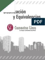 Dosificacion y Equivalencias Cementos Lima