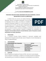 001 Programa Institucional BTC Edital Nº 12 de 22.02.2019
