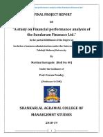 FINAL a Study on Financial Performance Analysis of the Sundaram Finance Ltd MARTINA BARSAGADE