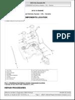 2012 Kia Sorento 3.5L V6 Fuel Delivery System 3.5L