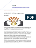 Use of Indigenous Language for Conflict Resolution