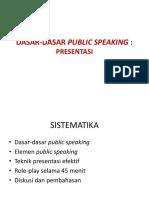2017 SDM Sesi 15 SN Dasar Public Speaking