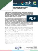 Comunicado de Prensa Alcaldía de Bello