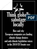 Think Globally Sabotage Locally - Climate Action Network Report  #BP
