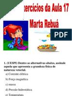 Física - Pré-Vestibular Dom Bosco - Aula 17 - Vetores - Exercícios