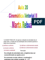 Física - Pré-Vestibular Dom Bosco - Aula 20 - Cinemática - Vetores II