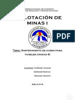 Sostenimientos de Acero Para Tuneles-Explotacion de Minas I