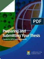 Preparing thesis