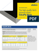 Doka Birch Plywood Specs - 18 Mm