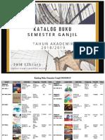 2018 2019 Semester GANJIL Buku Wajib Matakuliah