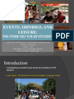 Events, Shindigs, And Leisure