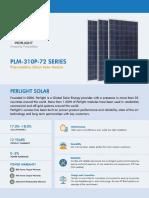 PLM-310P-72 SERIES (290W-310W)